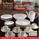 Vernon Gold 33pcs Dinner Set
