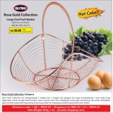 Rose Gold Large Oval Fruit  Basket