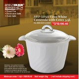 Apiware Vitro White 3.5L Casserole  With Neo Cover
