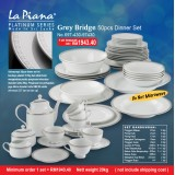 Grey Bridge 50pcs Dinner Set