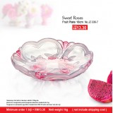 Sweet Roses Fruit Plate 18cm