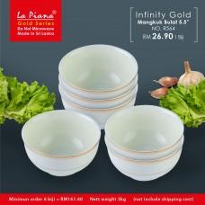 Infinity Gold Mangkuk Bulat 5.5''