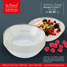 Infinity Gold Mangkuk Cereal 7''