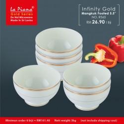 Infinity Gold Mangkuk Footed 5.5''