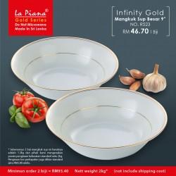 Infinity Gold Mangkuk Sup Besar 9'' R523