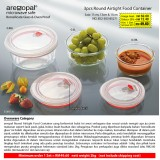 3pcs Round Airtight Food Container
