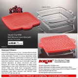Borcam Square Tray With Red Silicone Cover