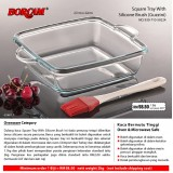 Borcam Square Tray With Silicone Brush