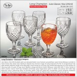 Long Champion Juice Glasses 10oz