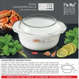 Victoria Casserole With Glass Lid 1.5L