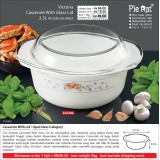 Victoria Casserole With Glass Lid 2.5L