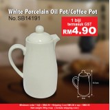 White Porcelain Oil Pot @ Coffee  Pot